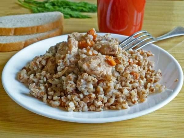 Гречка с грибами и курицей рецепт пошагово