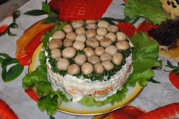 Рецепт салата лесная полянка с пошаговым фото